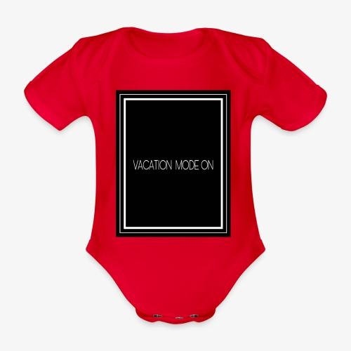 Vacation mode on - Body ecologico per neonato a manica corta