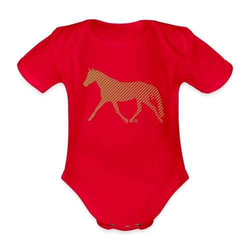 Streifen Pferd - Baby Bio-Kurzarm-Body