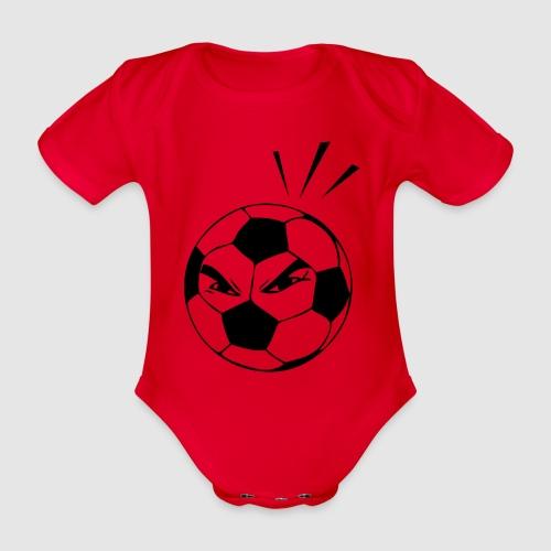 energischer Fußball - Baby Bio-Kurzarm-Body