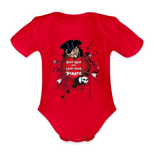 love your pirate - Body ecologico per neonato a manica corta