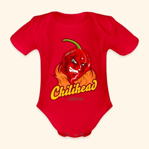 Chili Design Cartoon Chilihead | Grill T-Shirts - Baby Bio-Kurzarm-Body