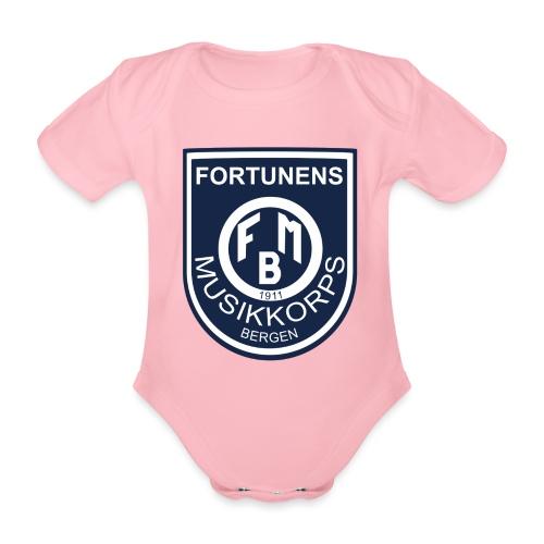 Fortunen logo - Økologisk kortermet baby-body