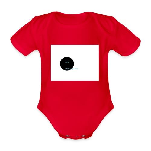 roel de gamer - Baby bio-rompertje met korte mouwen