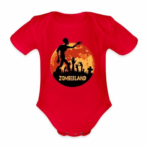 Zombieland Halloween Design - Baby Bio-Kurzarm-Body