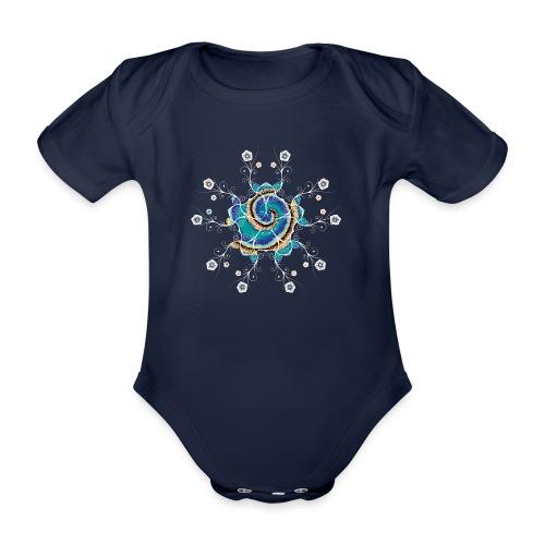 Flower Spiral - Organic Short-sleeved Baby Bodysuit