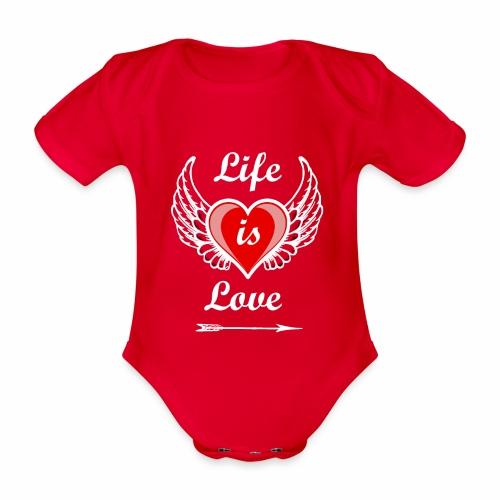 Life is Love - Baby Bio-Kurzarm-Body
