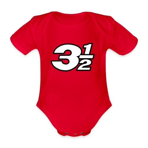 Three and a Half Logo - Organic Short-sleeved Baby Bodysuit