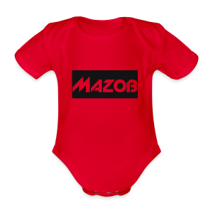 Mazob_Shirt_Design - Organic Short-sleeved Baby Bodysuit