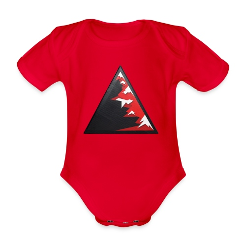 Climb high as a mountains to achieve high - Organic Short-sleeved Baby Bodysuit