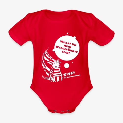 TIFFI: Willst du mein Weggefährte sein? (weiß) - Baby Bio-Kurzarm-Body