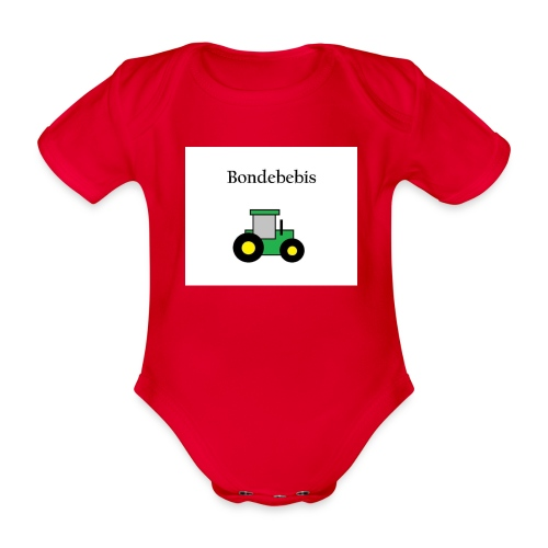 Bondebebis jpg - Ekologisk kortärmad babybody