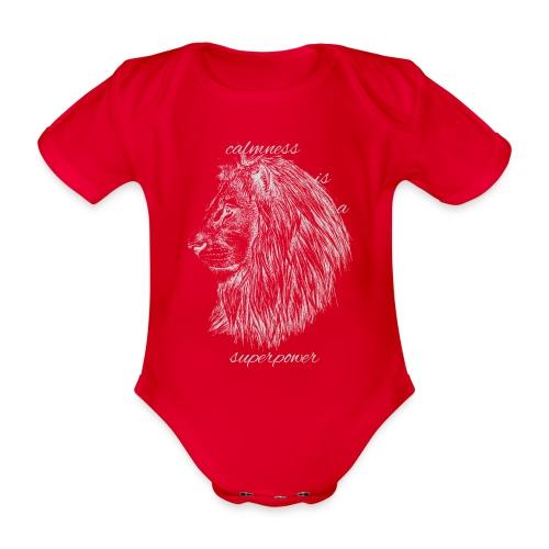 Calmness is a superpower - Body ecologico per neonato a manica corta