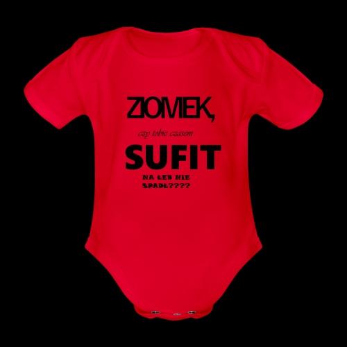 kubek z popularnym tekstem z kilera - Ekologiczne body niemowlęce z krótkim rękawem
