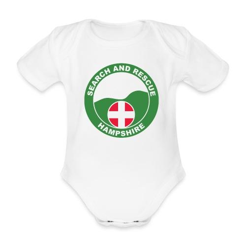 HANTSAR roundel - Organic Short-sleeved Baby Bodysuit