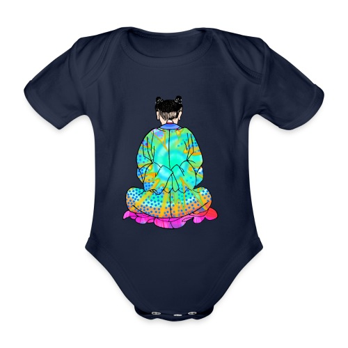 Qigong exercise for pain in the legs - Organic Short-sleeved Baby Bodysuit