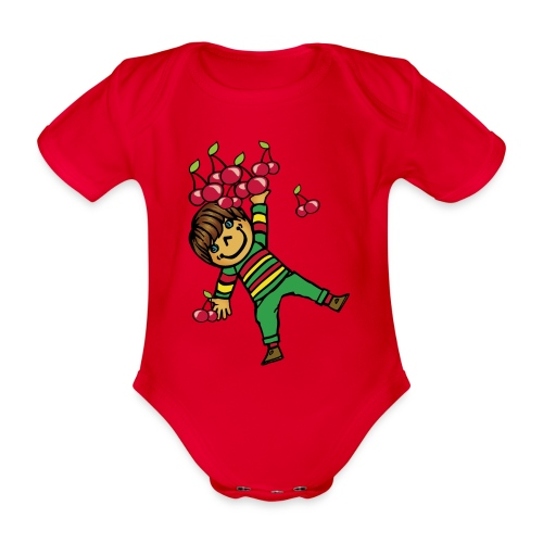 08 kinder kapuzenpullover hinten - Baby Bio-Kurzarm-Body