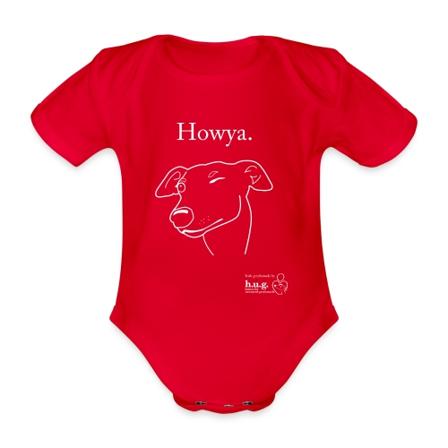 Howya Greyhound - Organic Short-sleeved Baby Bodysuit