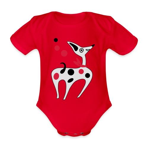 Funny puppy - Body ecologico per neonato a manica corta