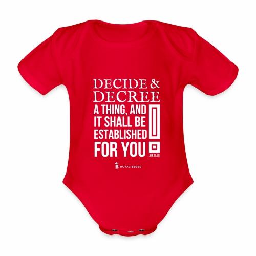 Decision - Body Bébé bio manches courtes
