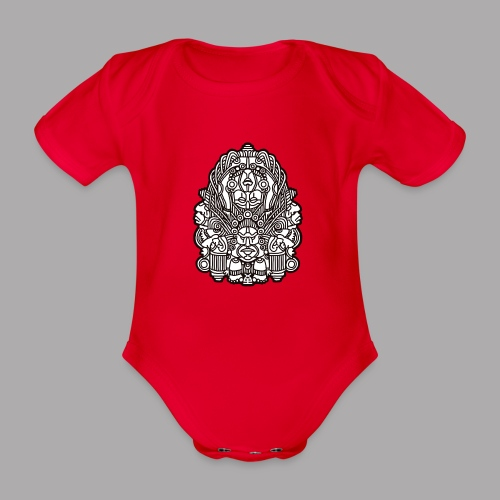 connected black - Organic Short-sleeved Baby Bodysuit