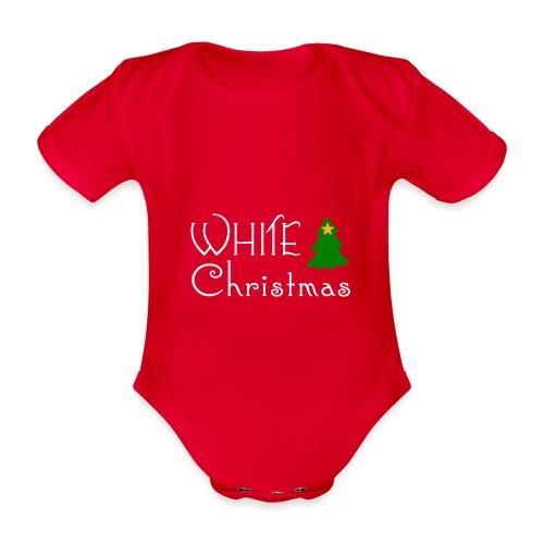 White Christmas - Organic Short-sleeved Baby Bodysuit