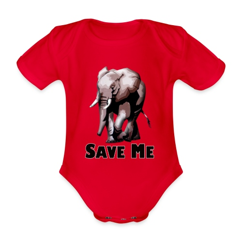 Elefant - SAVE ME - Baby Bio-Kurzarm-Body