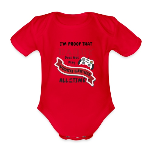 Gaming - Organic Short-sleeved Baby Bodysuit