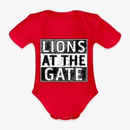 LIONS AT THE GATE BAND LOGO - Baby bio-rompertje met korte mouwen