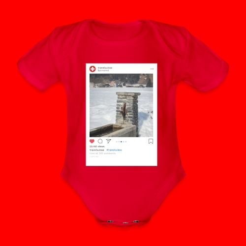 travelsuisse - Brunnen Trin - Baby Bio-Kurzarm-Body