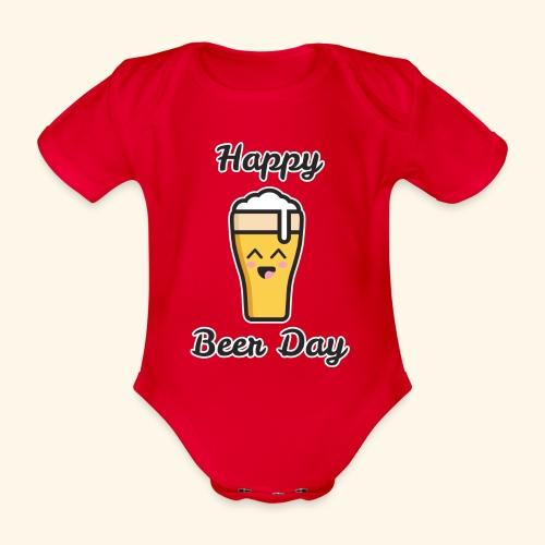 happy beer day - Body Bébé bio manches courtes