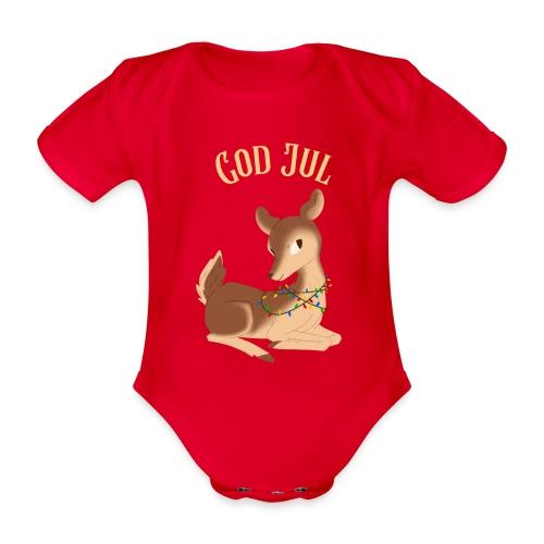 God Jul - Økologisk kortermet baby-body