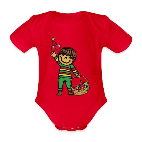 07 kinder kapuzenpullover hinten - Baby Bio-Kurzarm-Body