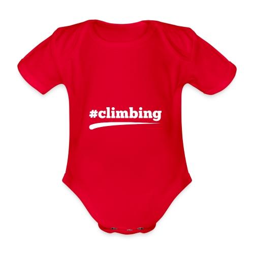 #CLIMBING - Baby Bio-Kurzarm-Body