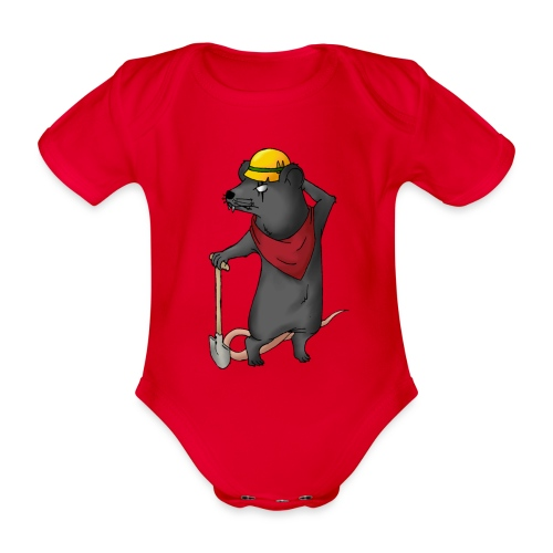 Arbeiter Ratte - Baby Bio-Kurzarm-Body