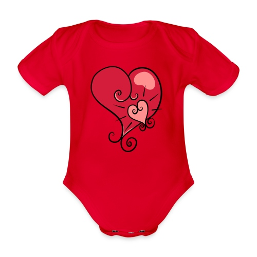 The world's most important. - Organic Short-sleeved Baby Bodysuit
