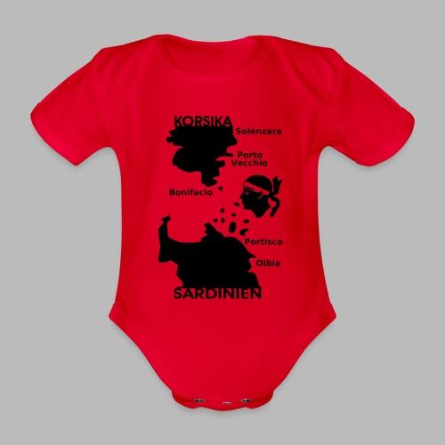Korsika Sardinien Mori - Baby Bio-Kurzarm-Body