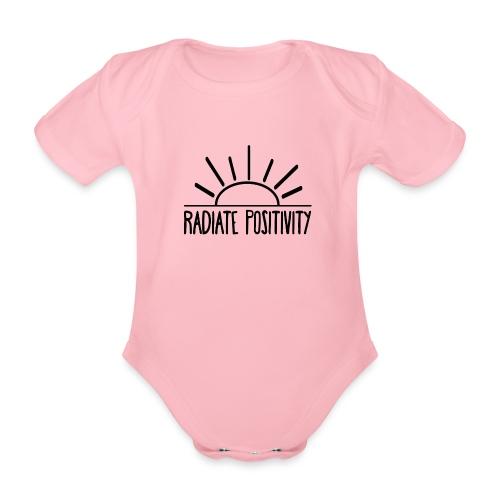 Radiate Positivity - Organic Short-sleeved Baby Bodysuit