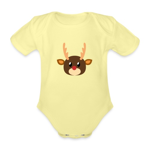 Rentier »Rudy« - Organic Short-sleeved Baby Bodysuit