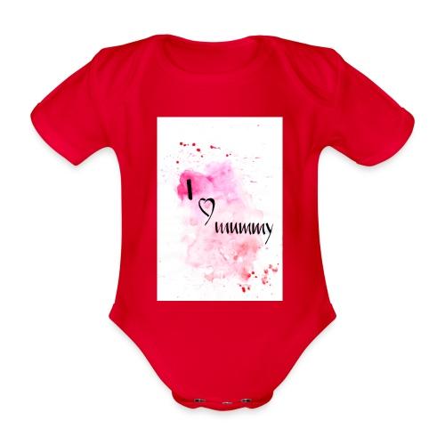 I love mummy - Baby Bio-Kurzarm-Body
