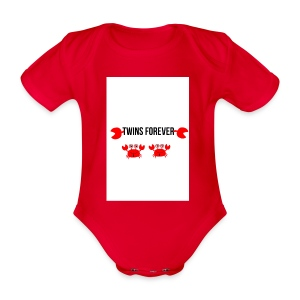 parry and barry twins forever - Organic Short-sleeved Baby Bodysuit