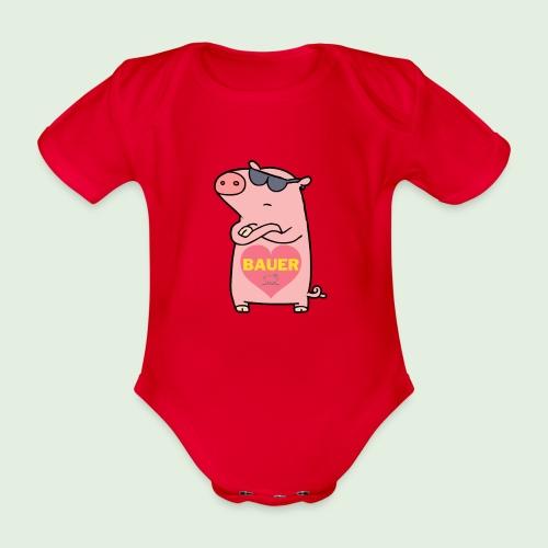 Ich liebe Bauer - Baby Bio-Kurzarm-Body
