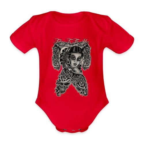 Gipsy Lady Flamenco Girl Chica Tattoos to the Max - Baby Bio-Kurzarm-Body