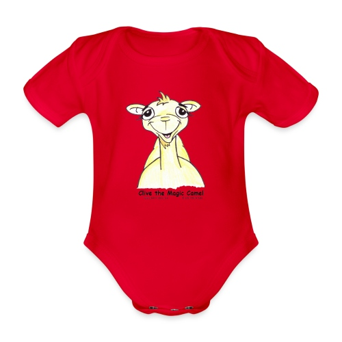 Copyright Clive facing Na - Organic Short-sleeved Baby Bodysuit