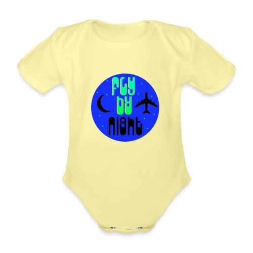 Fly By Night - Organic Short-sleeved Baby Bodysuit