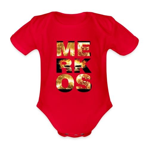MERKOS FIRE DESIGN - Body orgánico de manga corta para bebé