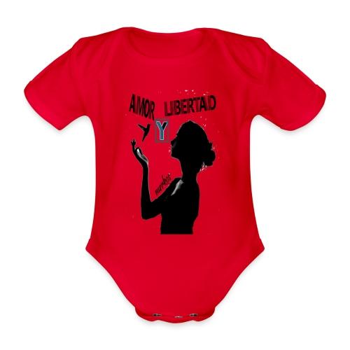 merkos libertad - Body orgánico de manga corta para bebé