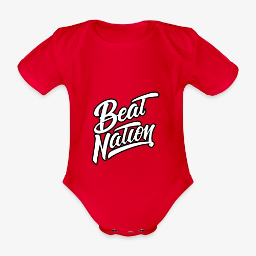 Logo Officiel Beat Nation Blanc - Baby Bio-Kurzarm-Body