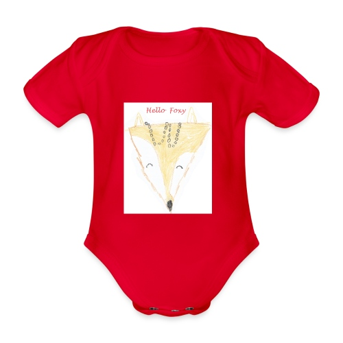 Hello Foxy - Organic Short-sleeved Baby Bodysuit