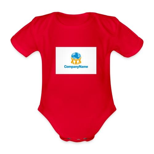 giro del mondo - Body ecologico per neonato a manica corta