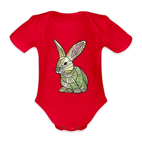 Scribblebunny - Organic Short-sleeved Baby Bodysuit